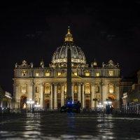 Ночной Ватикан. Собор Святого Петра. :: Ольга Кан