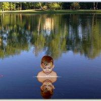 Гляжу я в сине озеро и вижу в нём...себя. Отражения. :: Anatol Livtsov