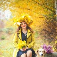 Девушка с собачкой) :: Мария Андреева