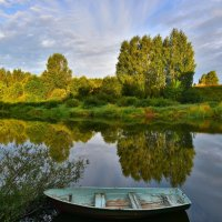 Утро в зеркале реки :: Татьяна Каневская