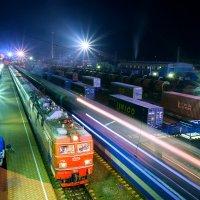 Ночная улица железной дороги :: Алексей Белик