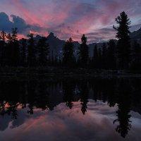 Закат на озере Тёплом :: Сергей Карцев