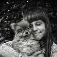 Дашка и ее щенок :: Андрей Мердишев