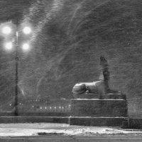 Ночь, улица, фонарь. :: vlad. alferow
