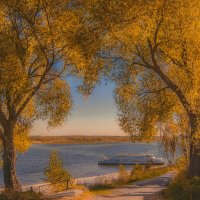 Осень на Волге. :: надежда губина