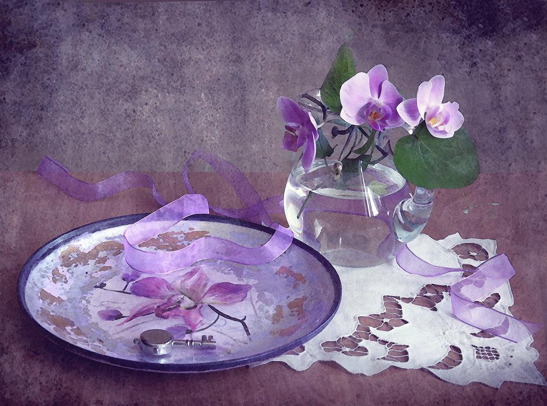 С орхидеями... - lady-viola2014 -