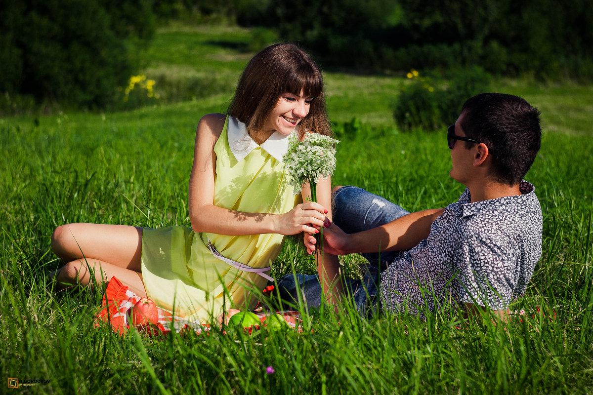 Слава и Жанна... и букет) ;) - Дмитрий Городков