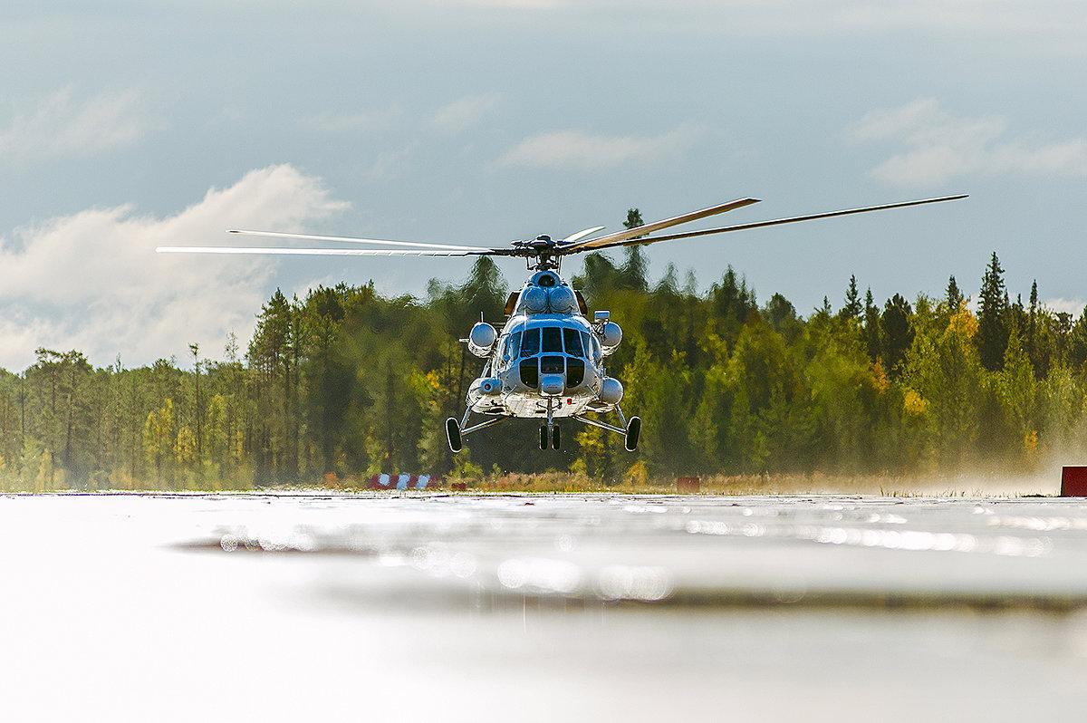 взлет МИ-171 после дождика - Павел Бирюков