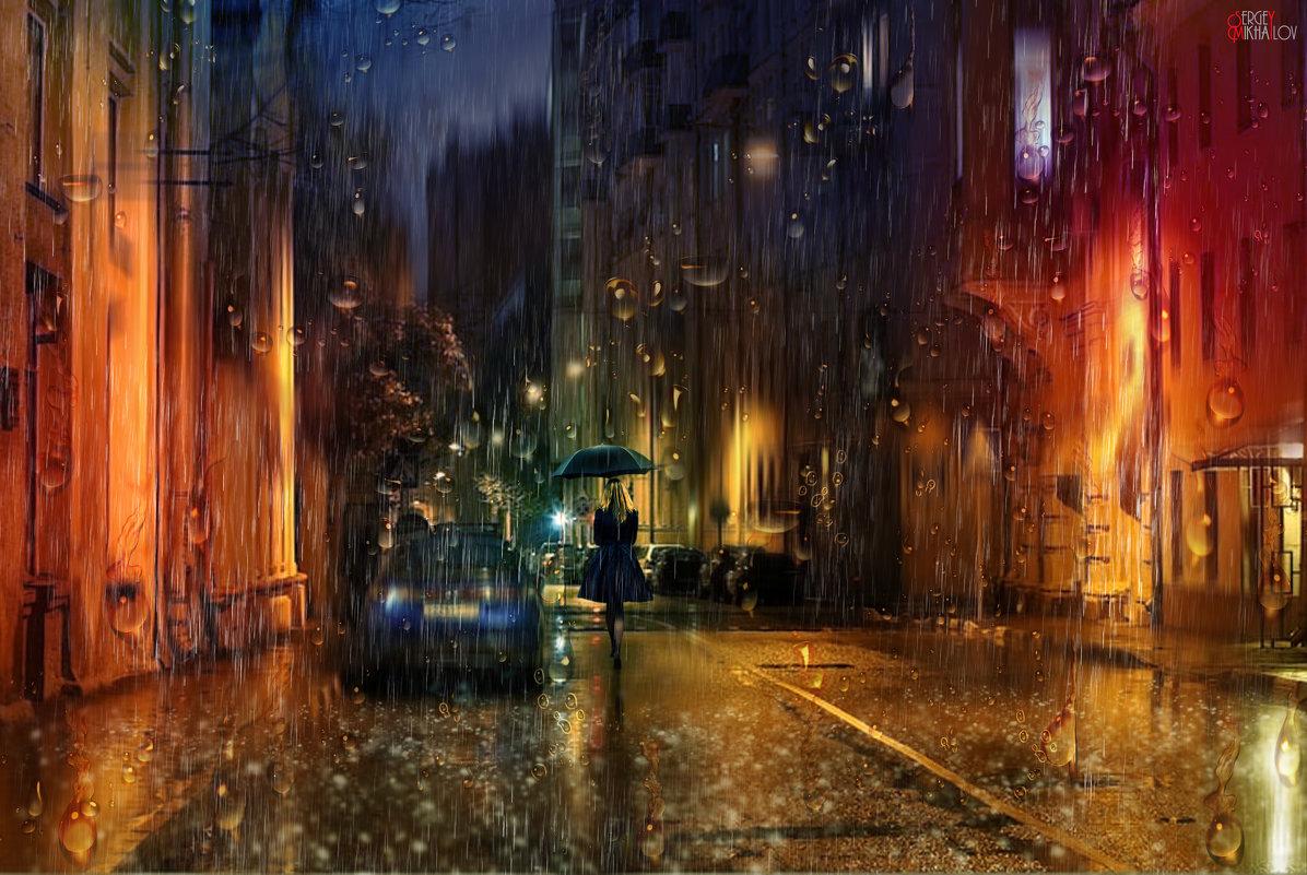 Жизнь не экзотика, москвичка под зонтиком, барокко и готика, Мадонна на каблучках... - Сергей Михайлов