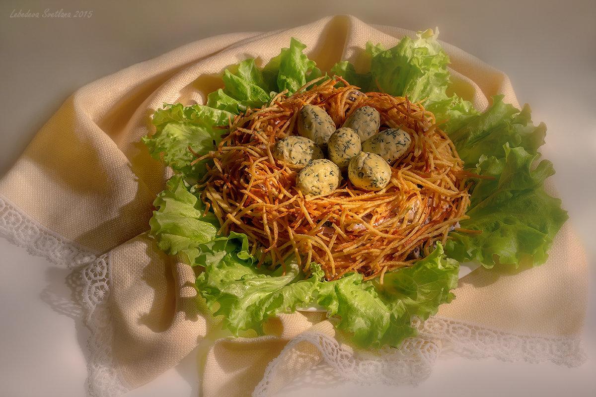 Салат гнездо