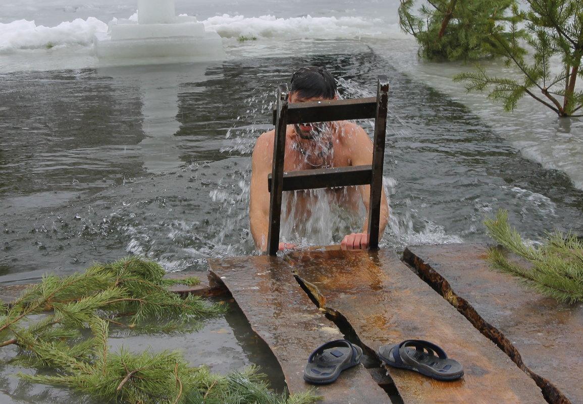 Традиционное крещенское купание. - Валентина ツ ღ✿ღ