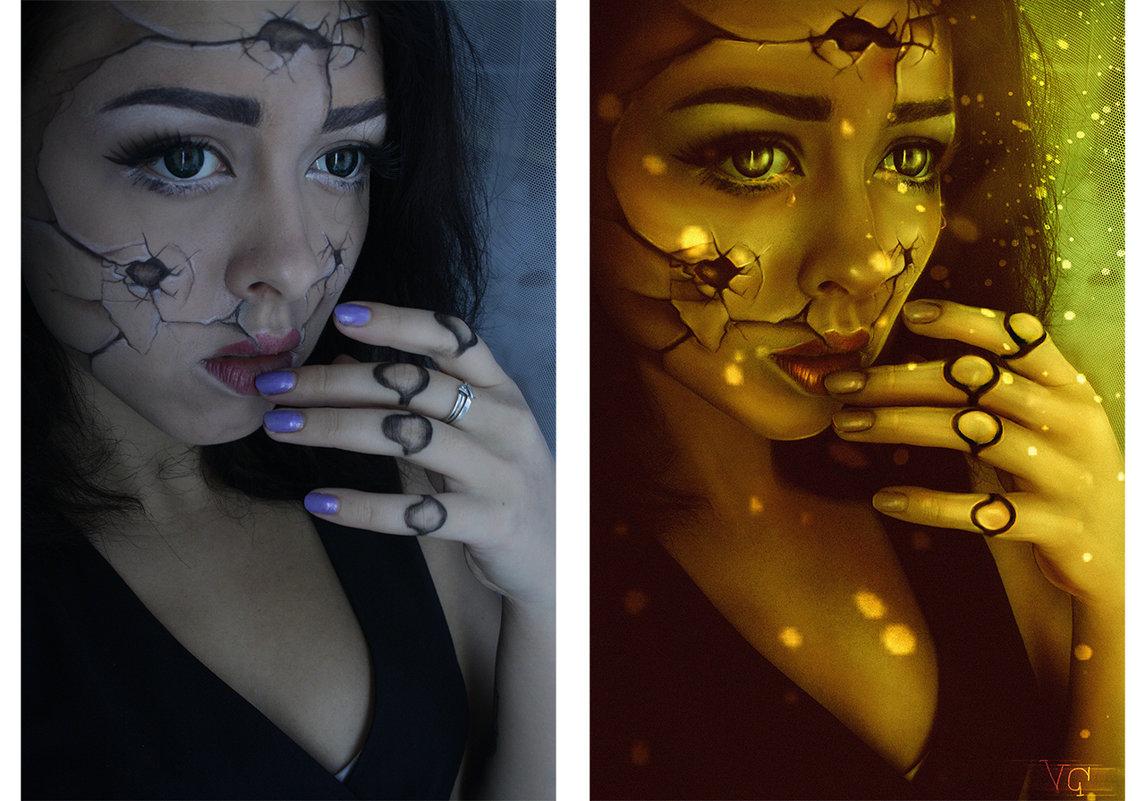 поломанная кукла (до и после) - Veronika G