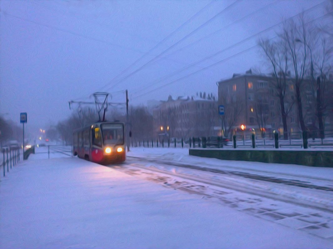 Вечерний трамвай - Aioneza (Алена) Московская