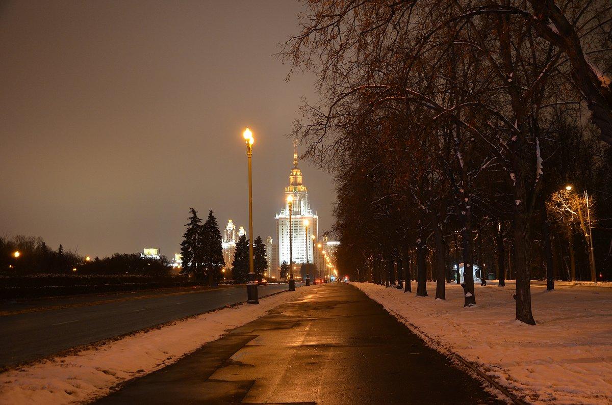 Зимний вечер в Москве. - Oleg4618 Шутченко