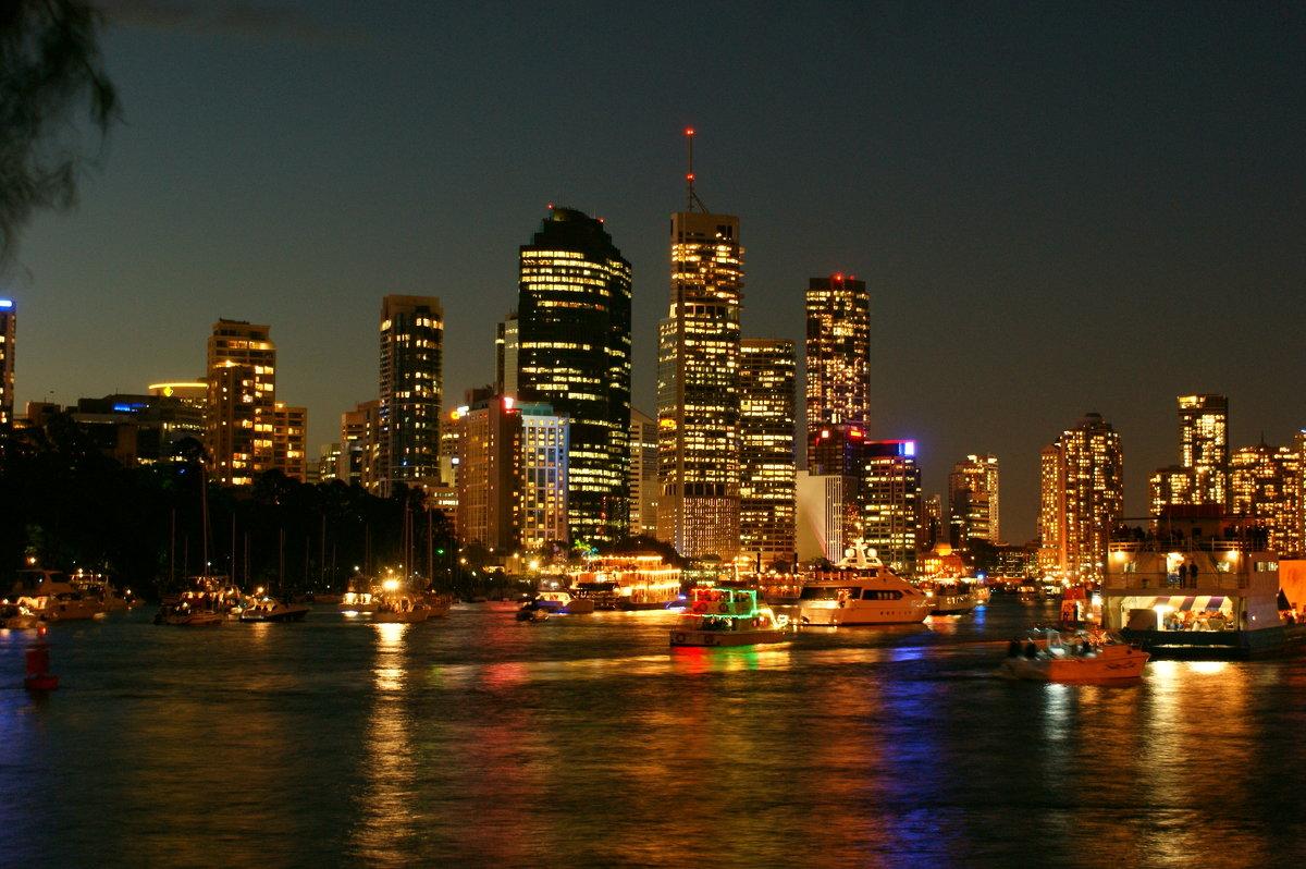 Брисбен в ночи.Австралия - Антонина