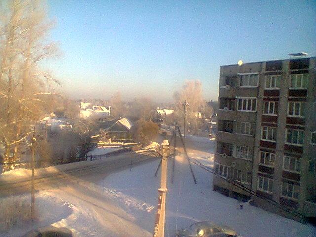 Морозный день,вид из окна. - Аверьянов Александр