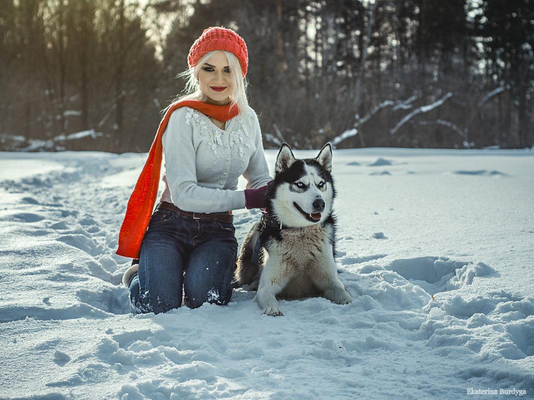 фотосессия с хаски - Екатерина Бурдыга