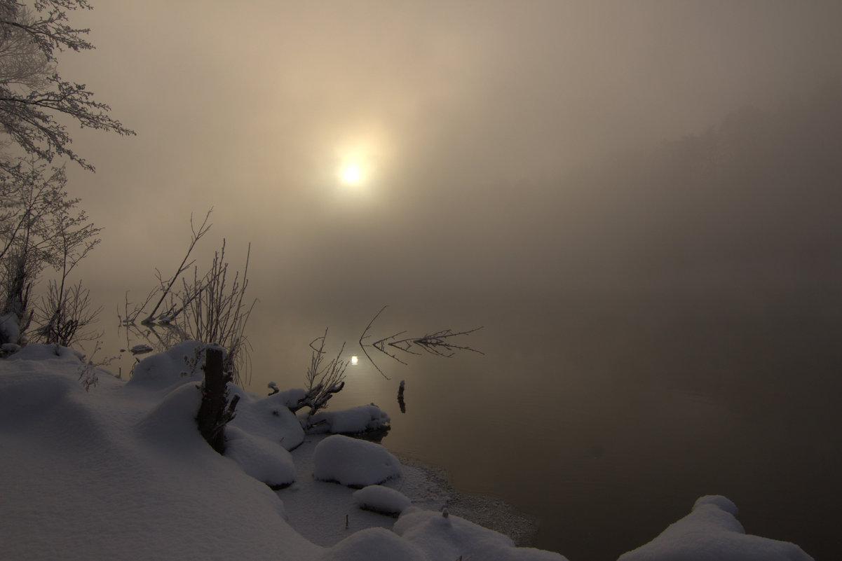 ***туман.озеро.зима - Александра