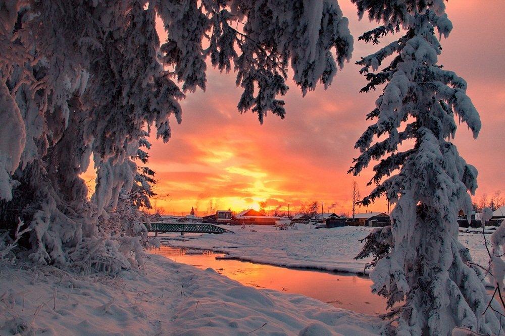 закат в деревеньке - Александр