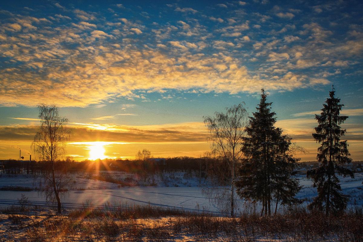 Зимний закат - Иван Анисимов