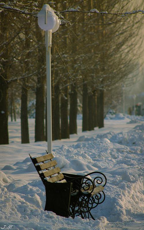 Скучающая скамейка.... - Julia Martinkova