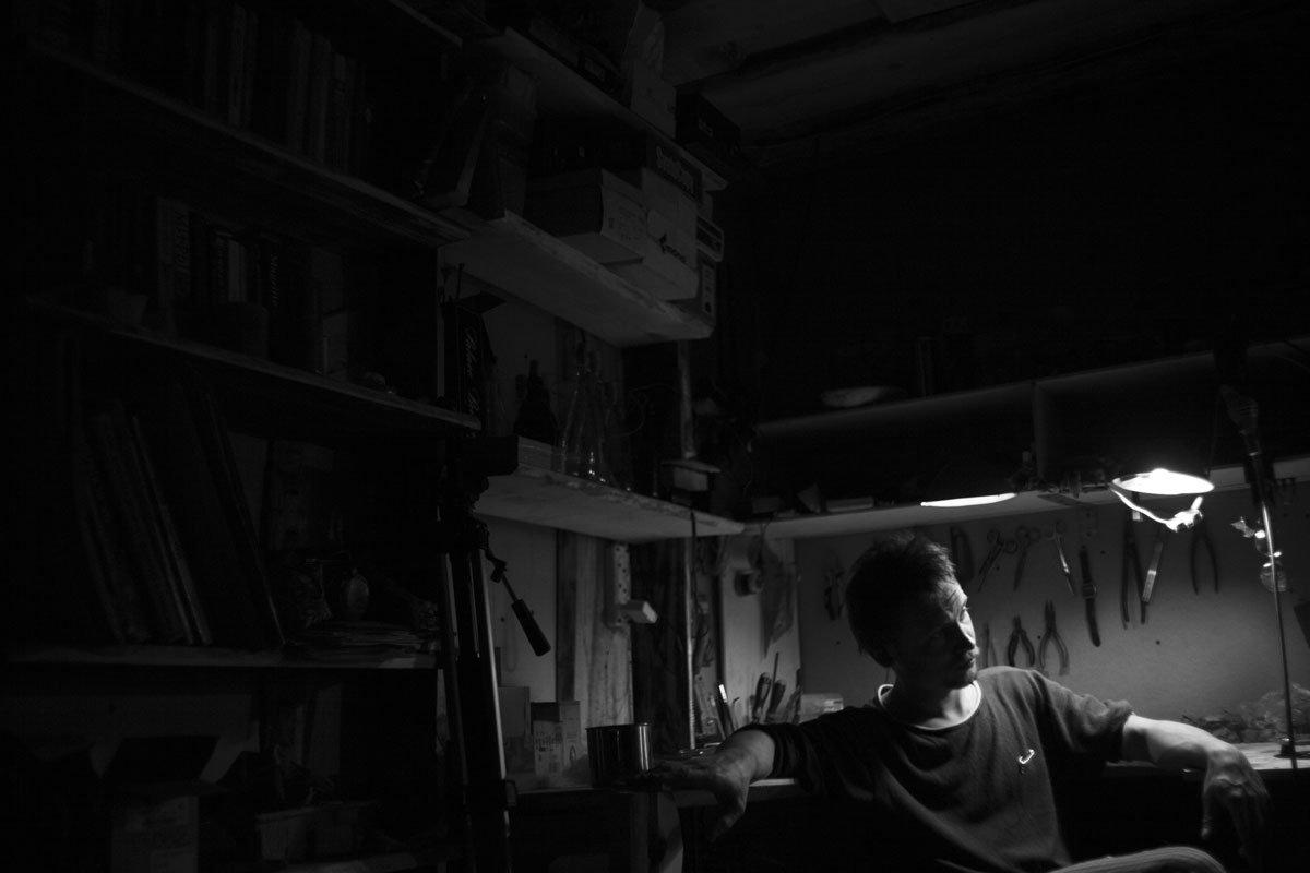 В мастерской - Витя Ярмолинский