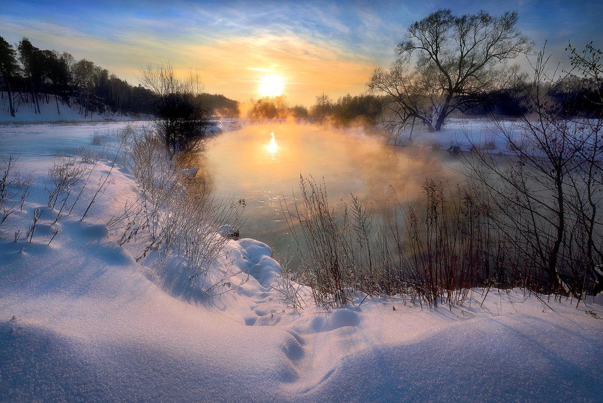 Очень морозный закат...2. - Андрей Войцехов