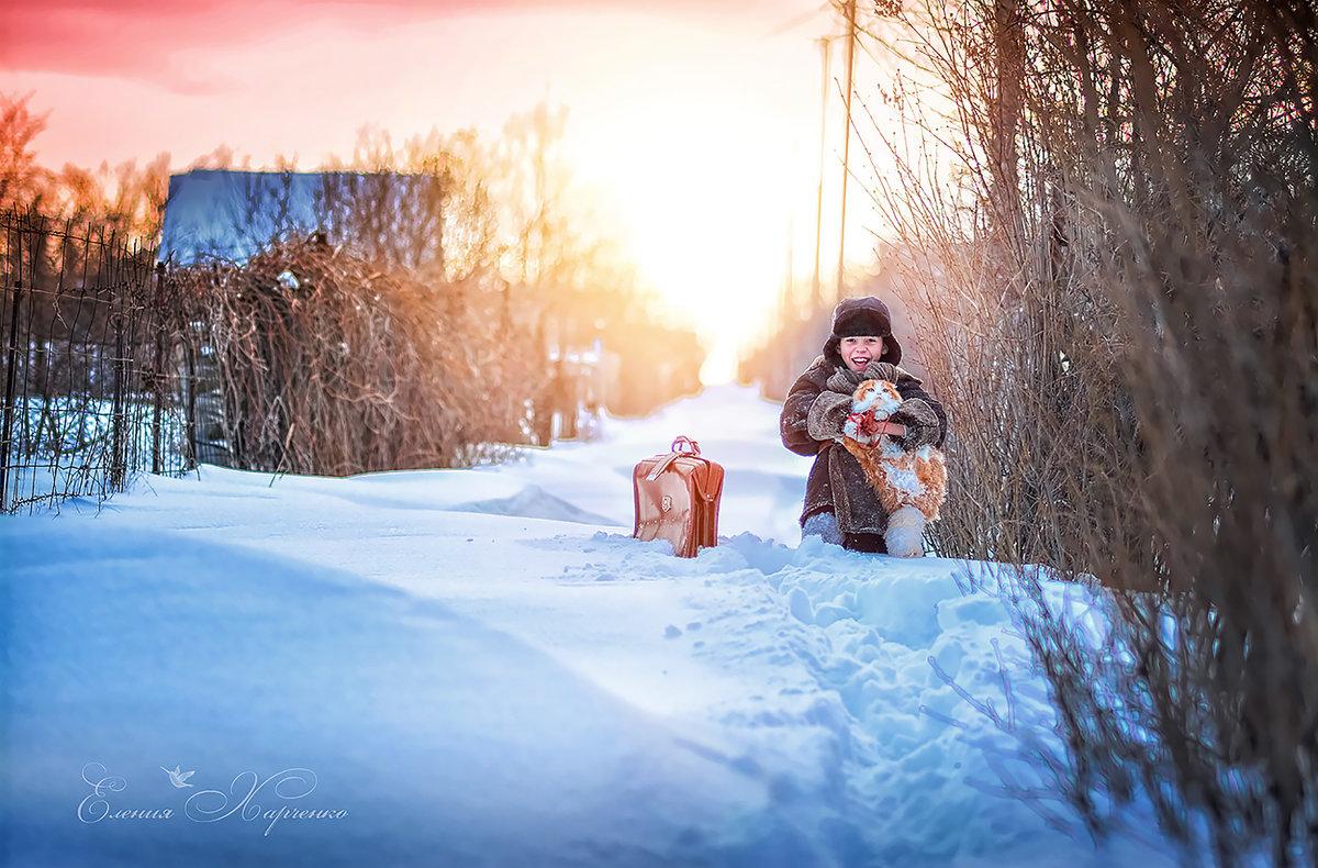Зима и дети торжествуют. - Еления Харченко