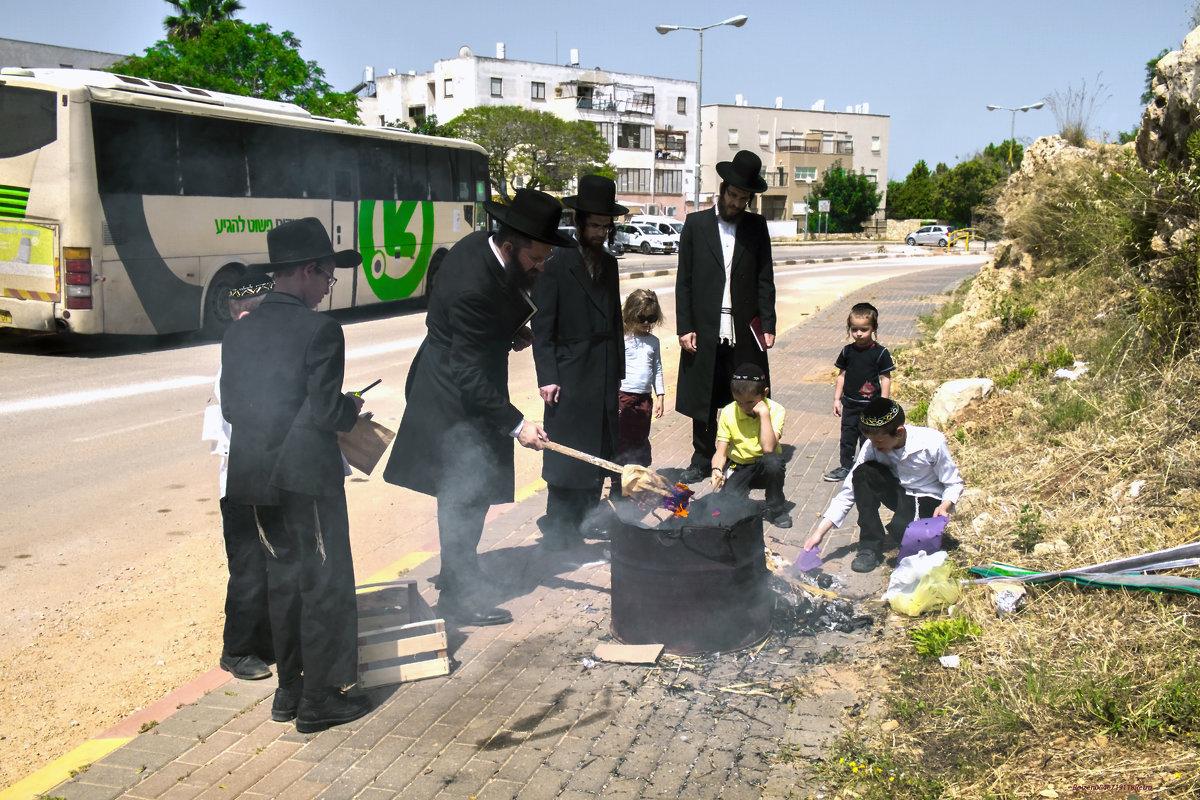 сжигание квасного(שריפת חמץ)«Израиль, всё о религии...»3 - Shmual Hava Retro
