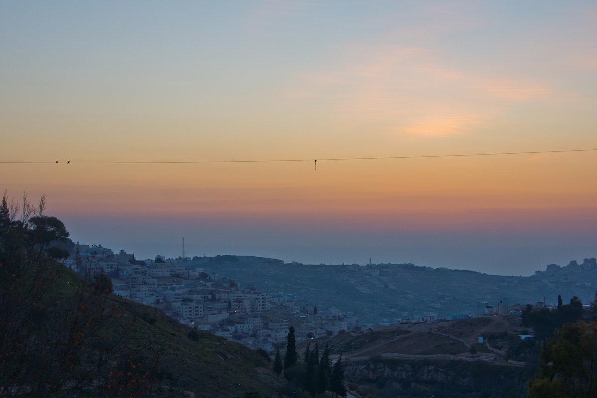 Иерусалим. Рассвет над горами. - Игорь Герман
