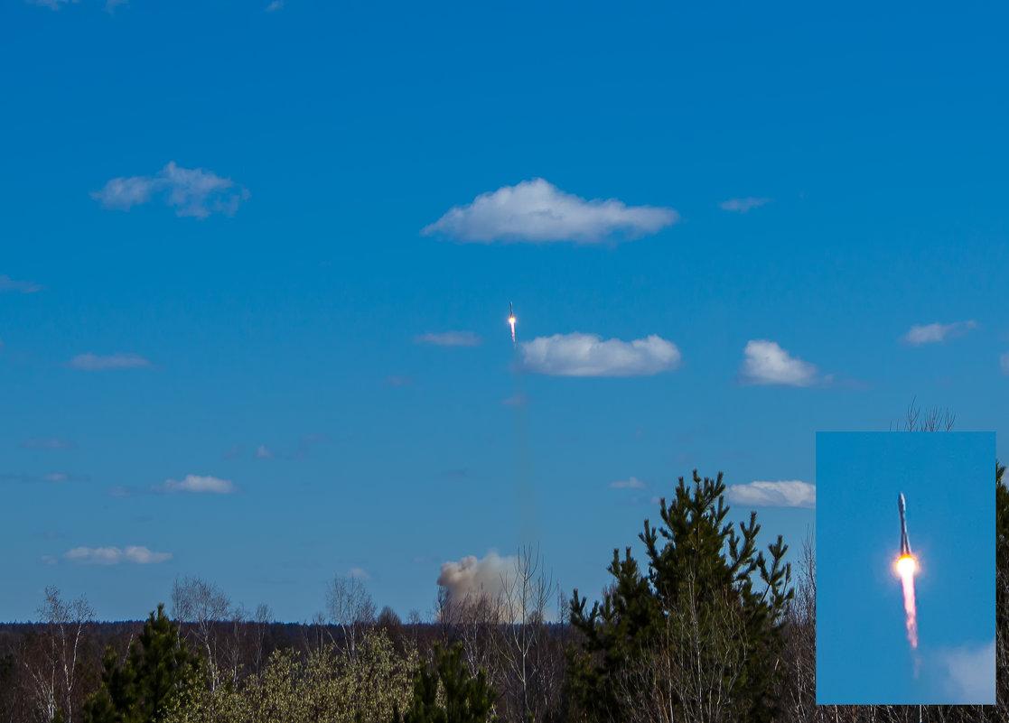 """Пуск ракеты """"Союз 2.1а"""" с космодрома """"Восточный"""" - Виктор"""