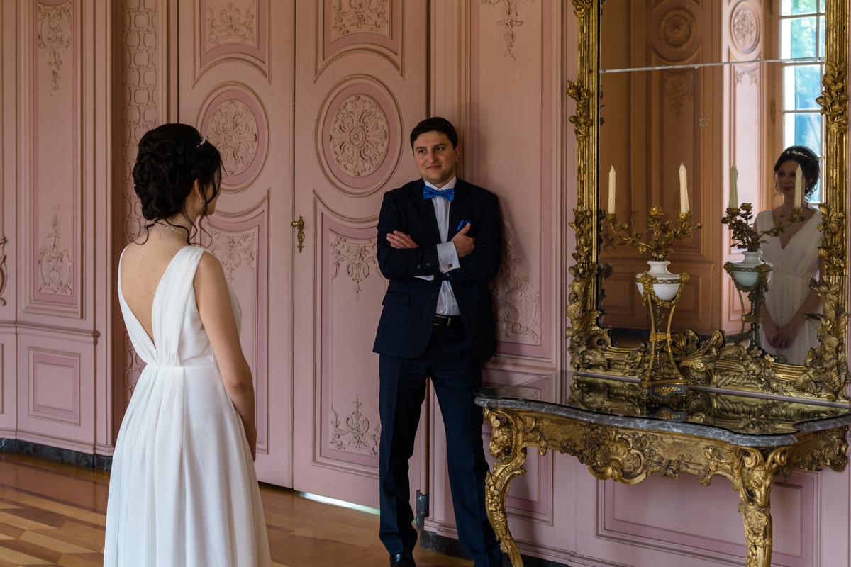Жених и невеста в замке Бенрат, Дюссельдорф - Witalij Loewin