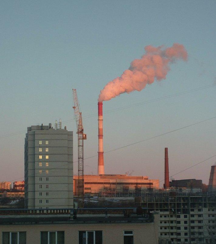 Вид на ТЭЦ в хорошую погоду - Николай Филоненко