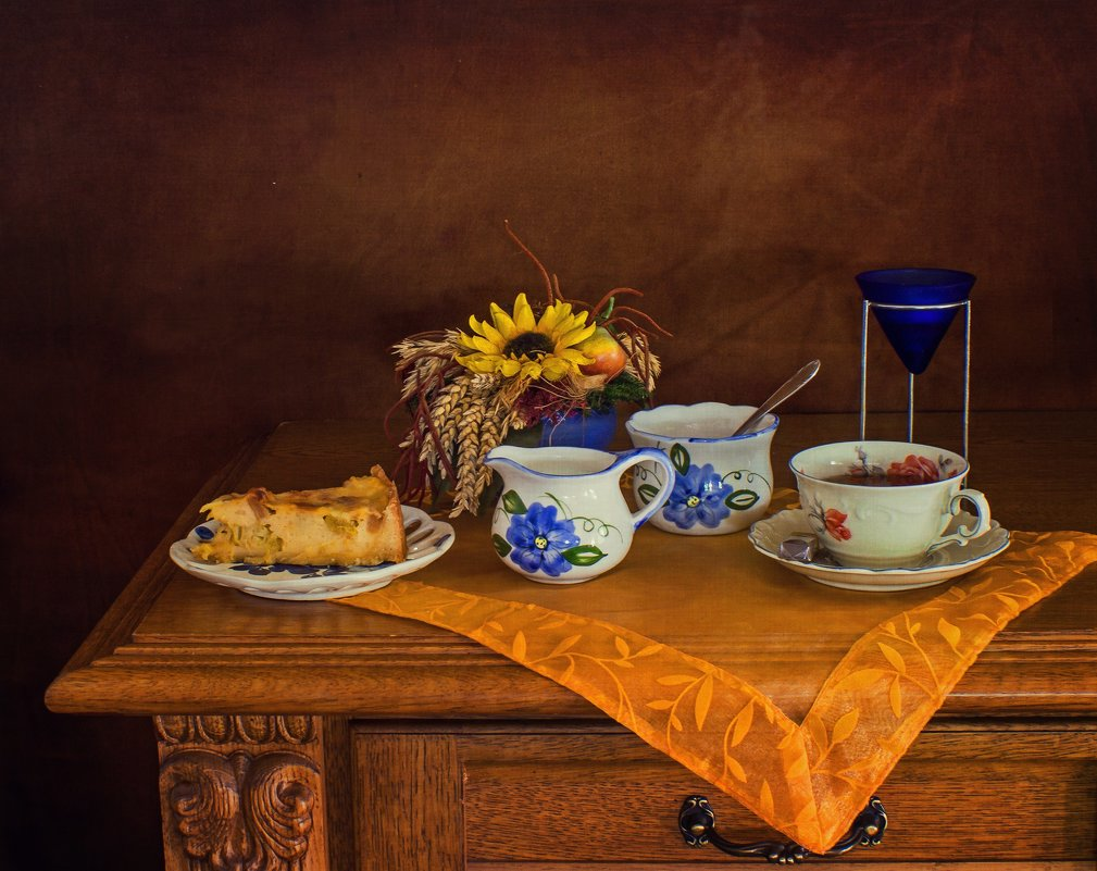 Кусочек пирога с ревенем к чаю - Надежда