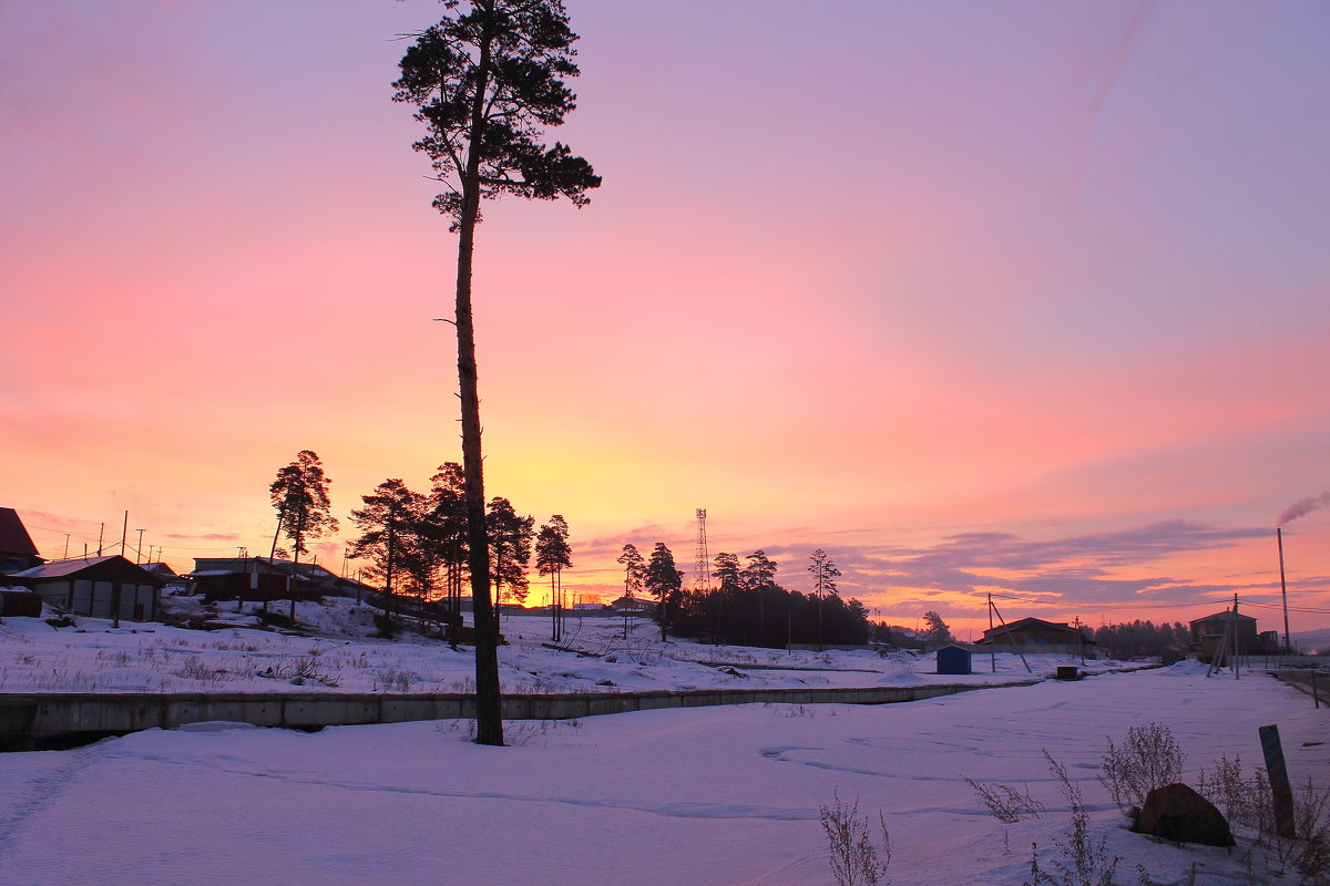 весенний рассвет в Сибири - Мария К