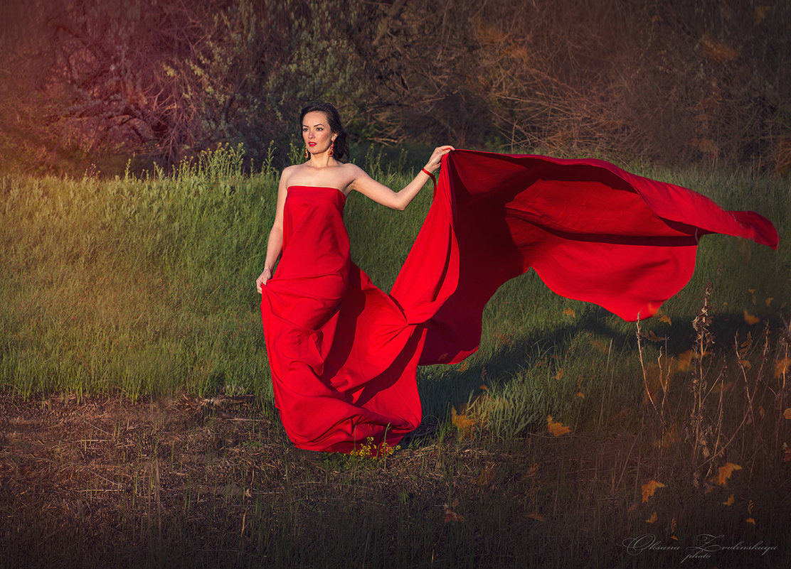 lady in red - Оксана Зволинская