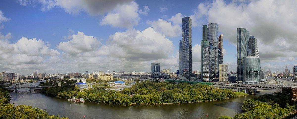 """Панорама вида на """"Москва-сити"""" - Pavel Stolyar"""