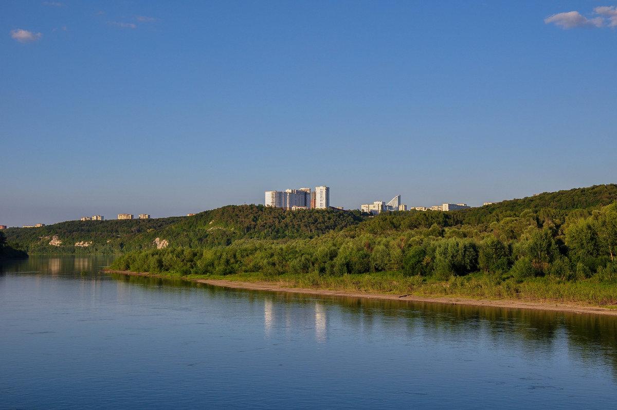 Город Уфа. Вид с реки Белой. - Сергей Тагиров