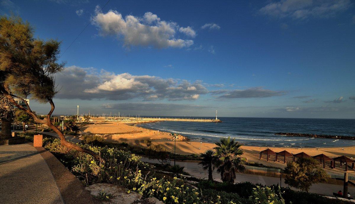 Утренний пляж. - Leonid Korenfeld