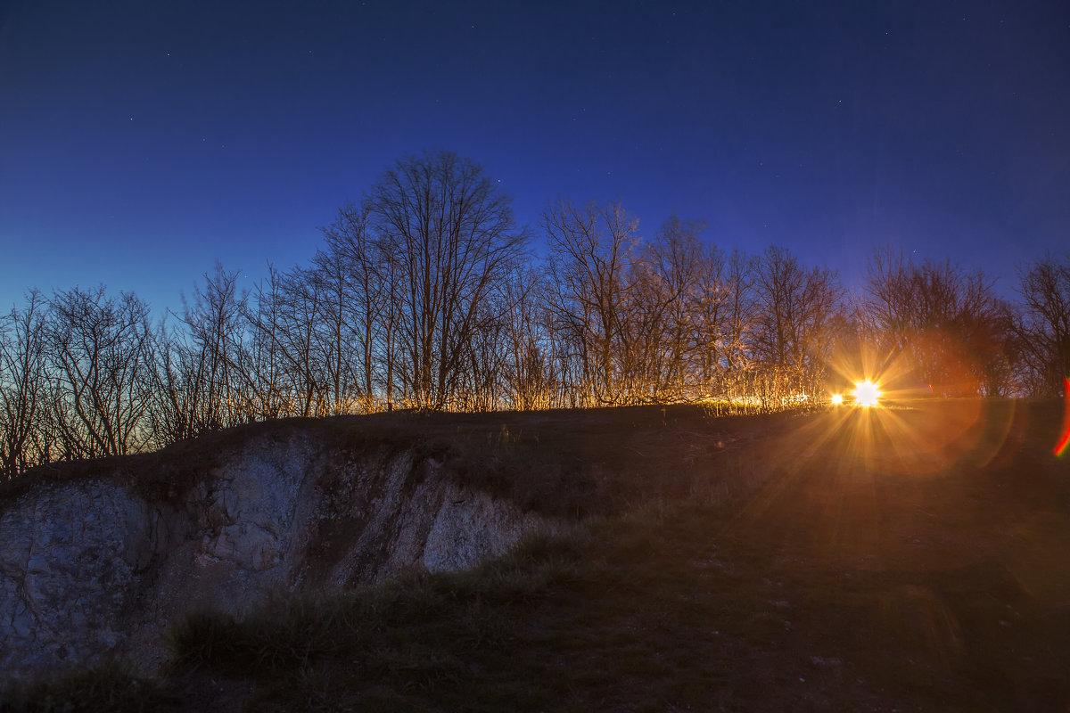 Апрельское утро на меловых горах. - Юрий Клишин