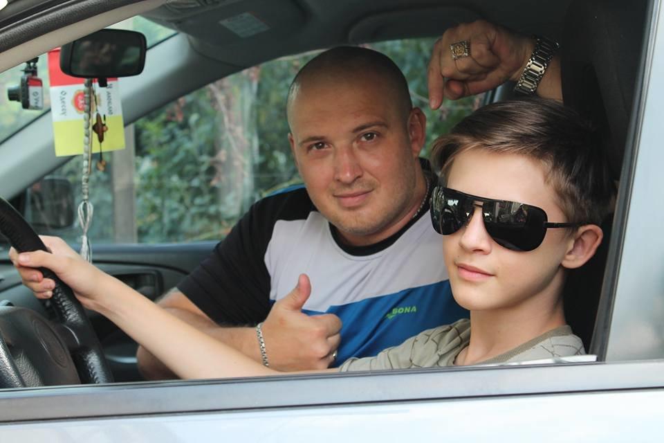 Саня с сыном. - Любовь