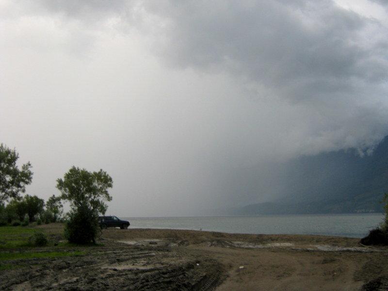 Вот такой вот дождик на южном берегу о.Телецкое. - Любовь Иванова