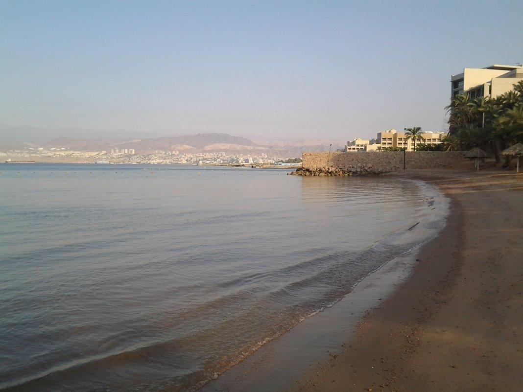 Вид Эйлата с Иорданского берега. - Жанна Викторовна