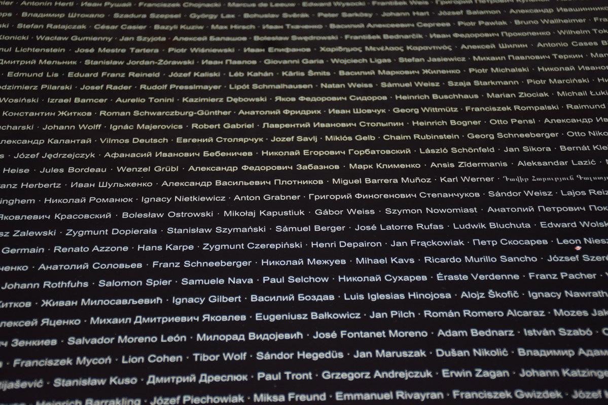 Маутхаузен-Музей, плиты с именами узников лагеря. - Сергей и Ирина Хомич