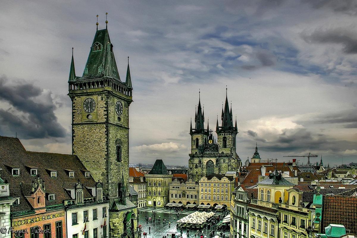 """Чехия. Прага. Вид на Староместскую площадь с крыши отеля """"У принца"""" - Андрей Левин"""