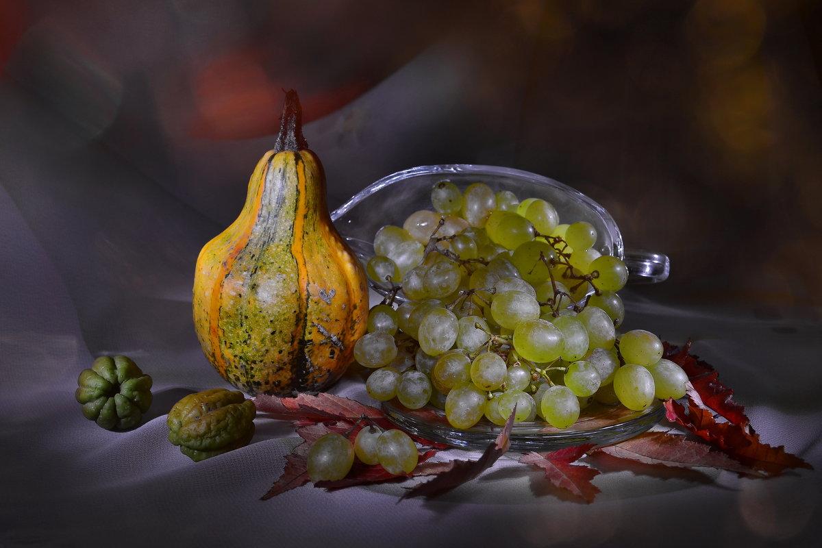 с виноградом и декоративной тыквой - Olena