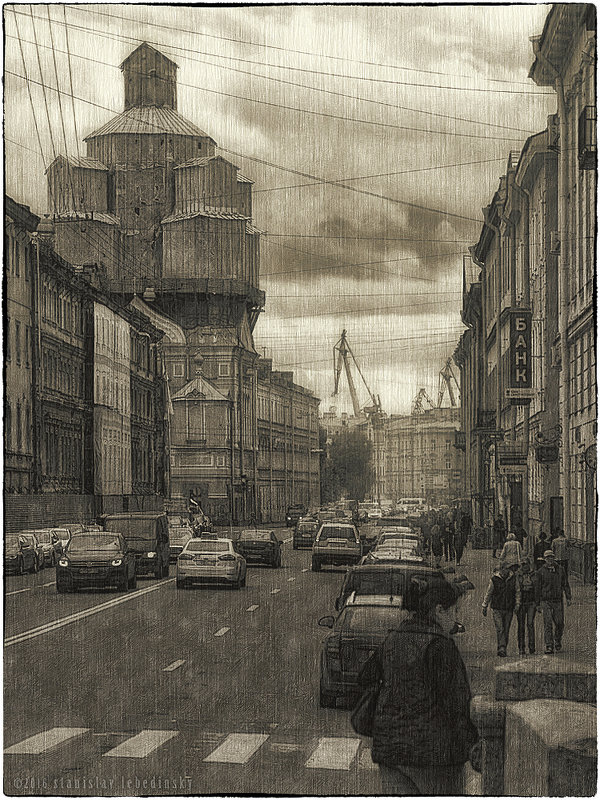 My magic Petersburg_02119 Проспект Римского-Корсакова - Станислав Лебединский