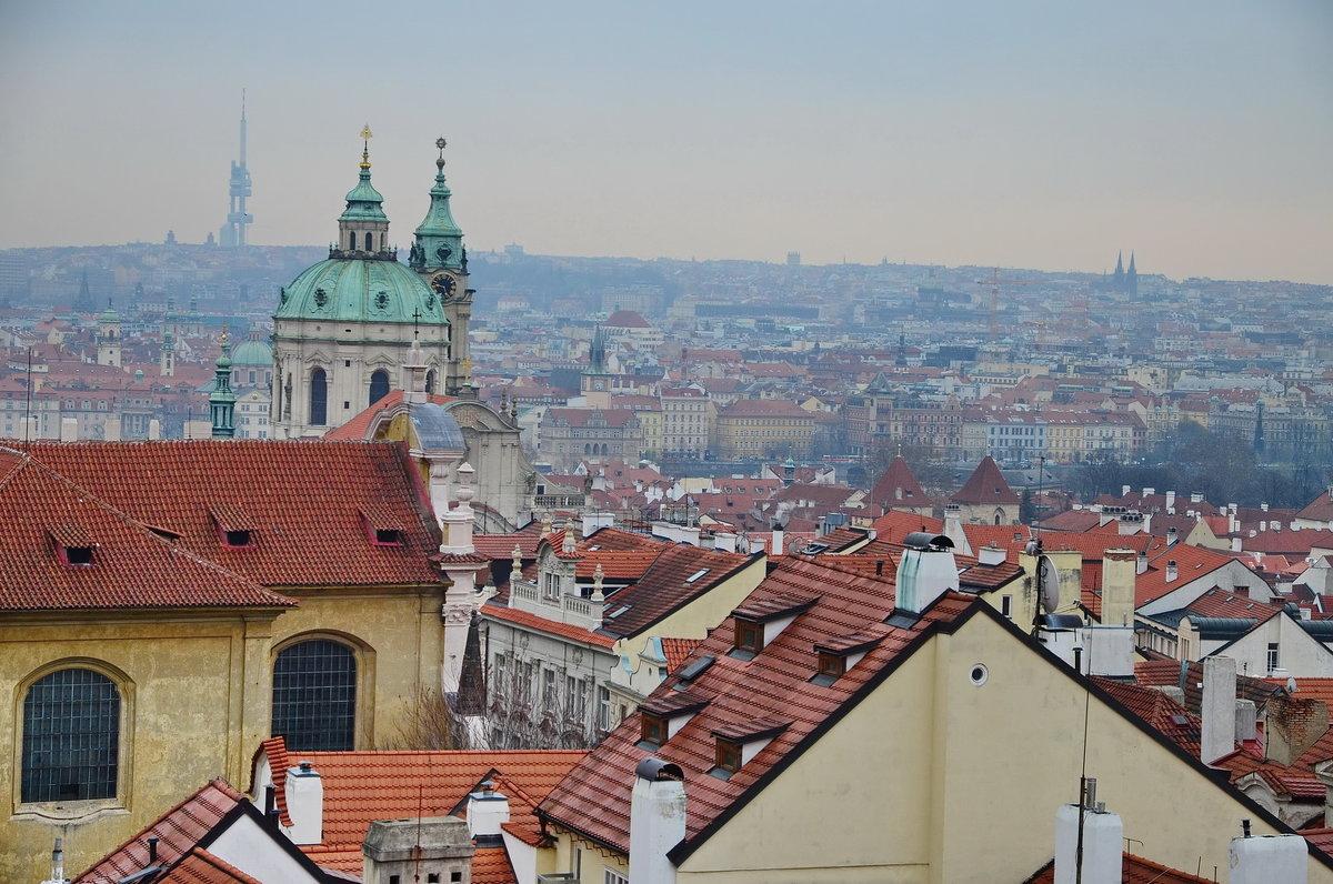 Прага, вид с Пражского града - Владимир Брагилевский