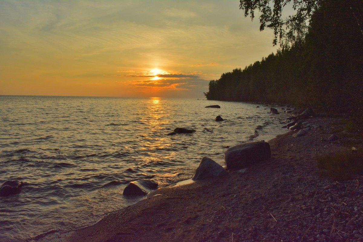 Закат на Онежском озере - Ирина Бархатова