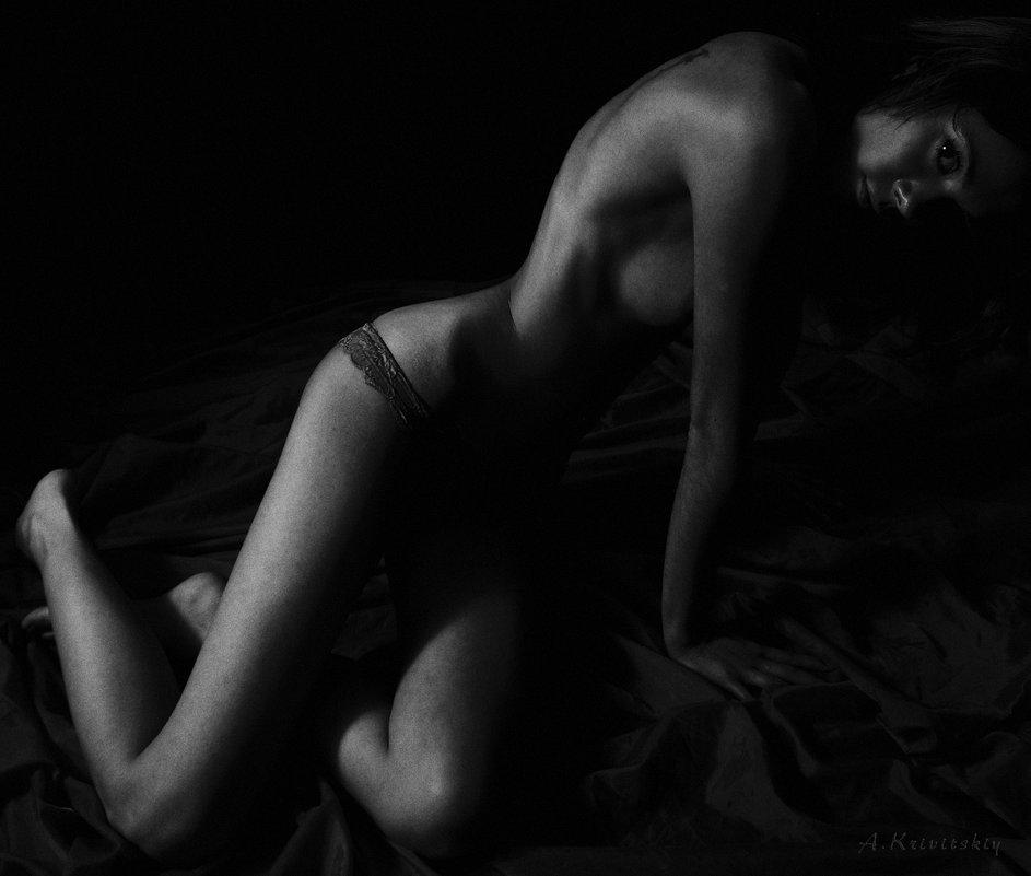 Portrait of a dark light. - krivitskiy Кривицкий
